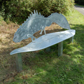 Great Crested Newt Seat - Glavanised Steel