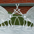 Butterfly Bench - Galvanised Steel