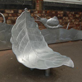 Steel Beech Leaf shaped Seat