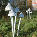 Steel and Aluminium Toadstool Sculptures