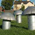 Toadstool Seats - Steel and Aluminium